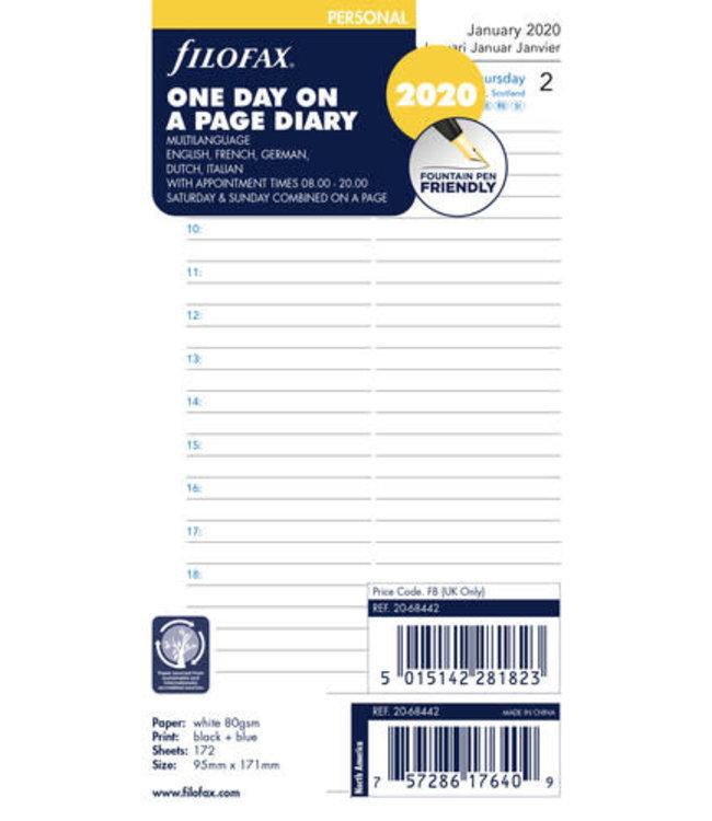 Filofax Filofax Agenda Personal vulling dag/pag