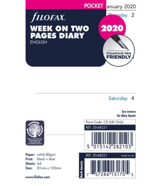 Filofax Filofax Agenda Pocket vulling week/2 pag
