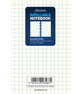 Filofax Pocket notebook refill white paper