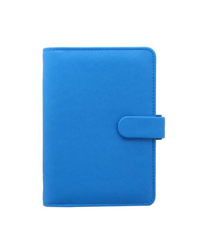 Filofax FILOFAX ORG PERSONAL SAFFIANO FLUORO BLUE