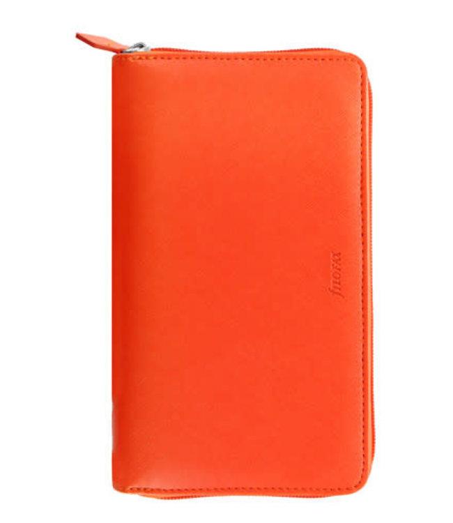 Filofax FILOFAX ORG PERSONAL COMPACT ZIP SAFFIANO Bright Orange