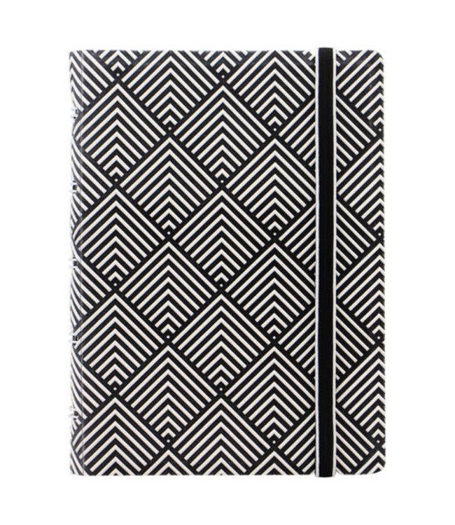 Filofax FILOFAX NOTEBOOK IMPRESSIONS  BLACK/WHITE DECO POCKET