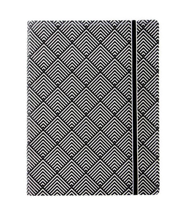 Filofax FILOFAX NOTEBOOK IMPRESSIONS BLACK/WHITE DECO A5