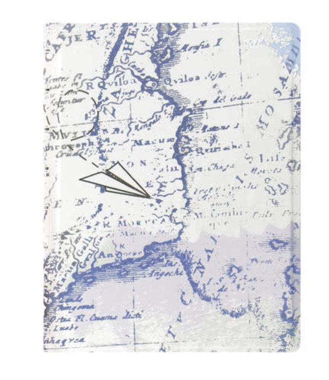 Filofax FILOFAX  NOTEBOOK PATTERNED RULED RETRO MAP A5