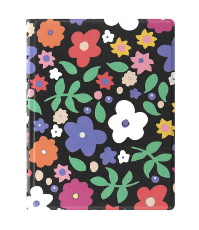 Filofax FILOFAX NOTEBOOK PATTERNED RULED RETRO FLORAL A5