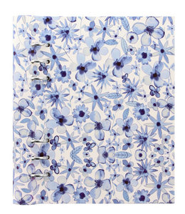 Filofax A5 Patterned  Clipbook  Indigo Floral