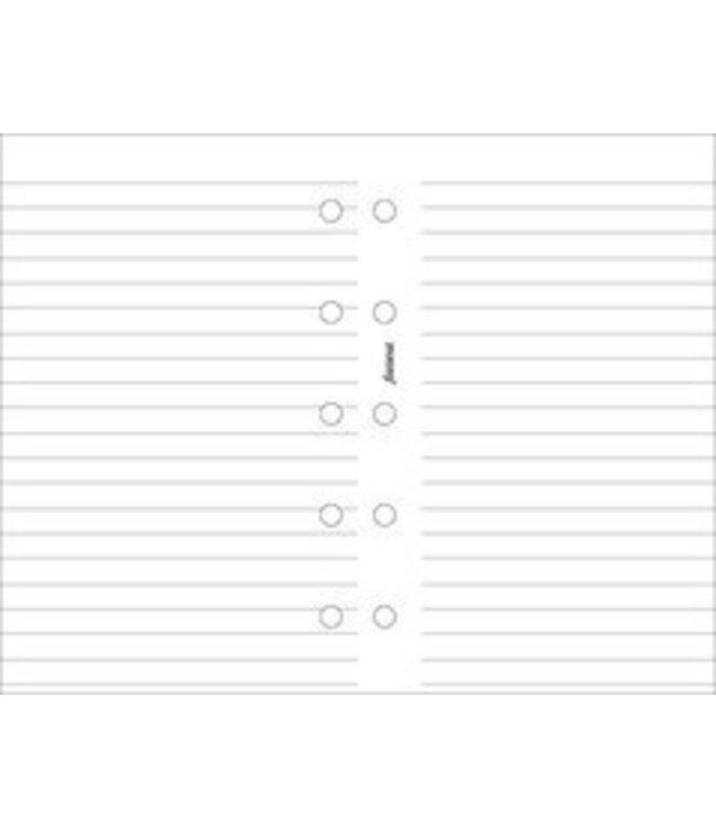 Filofax FILOFAX ORG UND MINI WHITE RULED NOTEPAPER