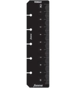 Filofax FILOFAX ORG UND MINI RULER PAGE MARKER BLACK