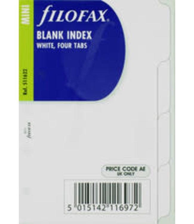 Filofax FILOFAX ORG.UND MINI BLANK INDEX/FOUR TABS