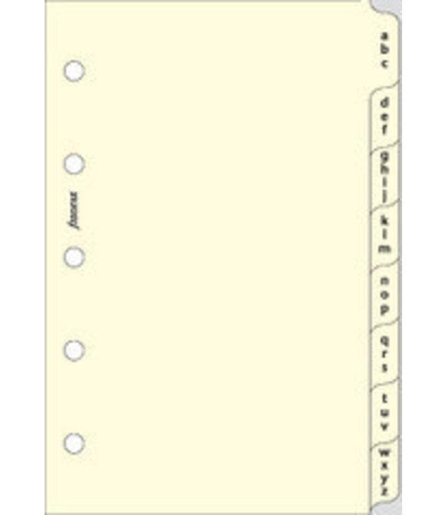 Filofax FILOFAX ORG UND MINI COTTON CREAM A-Z INDEX 3 LETTERS