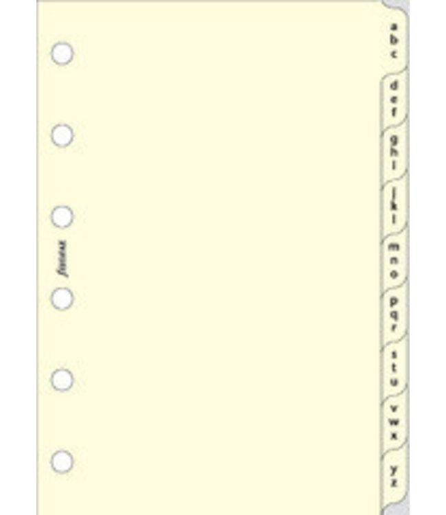 Filofax FILOFAX ORG DATED POCKET  COTTON CREAM THREE LETTERS PER TAB