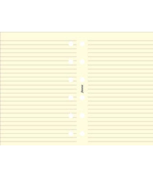 Filofax FILOFAX ORG UND POCKET COTTON CREAM RULED NOTEPAPER