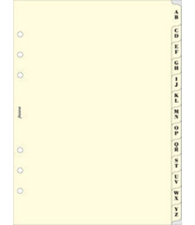 Filofax Filofax ORG UND A5 A-Z INDEX CREAM 2 LETTERS PER TAB