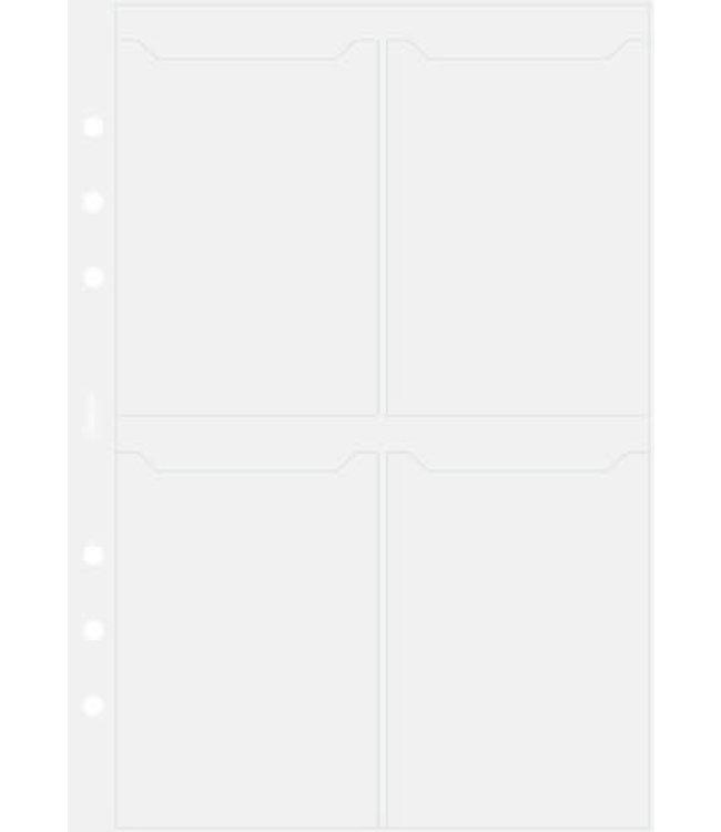 Filofax Filofax ORG UND A5 BUSINESS CARD HOLDER DOUBLE SIDED