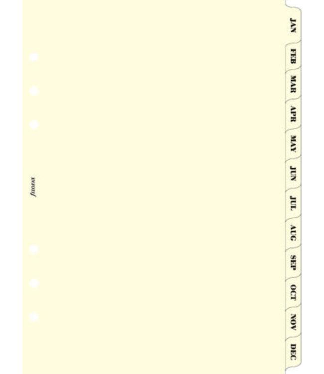 Filofax Filofax ORG UND A5 JANUARY-DECEMBER INDEX CREAM