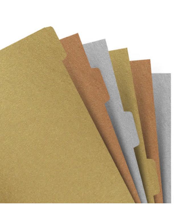 Filofax Filofax Metallic tabbladen A5