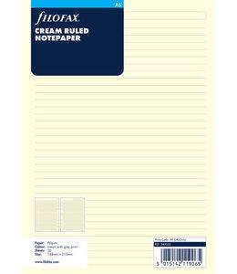 Filofax A5 Organiser Refill Ruled Crème