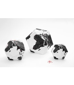 Globe Here by countries - Small (black)
