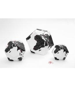 Globe Here by countries - Medium ( black )