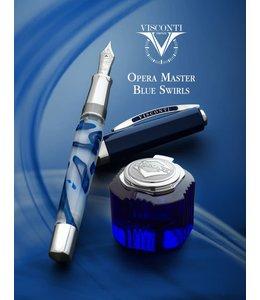 Visconti Opera Master Blue Swirl Set