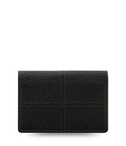 Filofax Classic Stitch Soft Business Card Holder Black