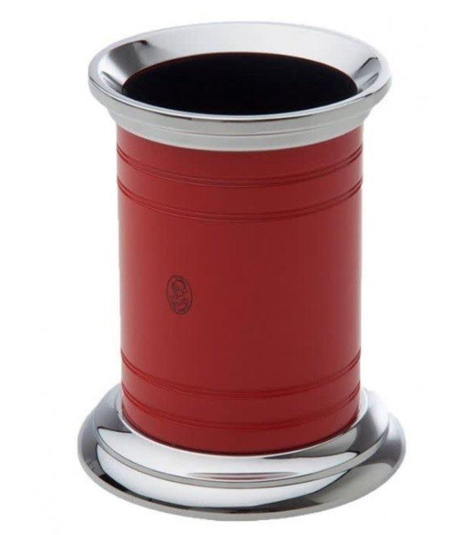 El Casco Pencil pot Chroom/Red