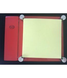 El Casco Adhesive note holder Chroom/Red