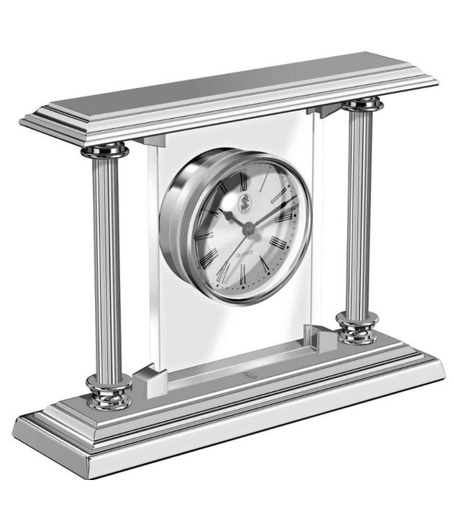 El Casco Desk Clock Chrome plated