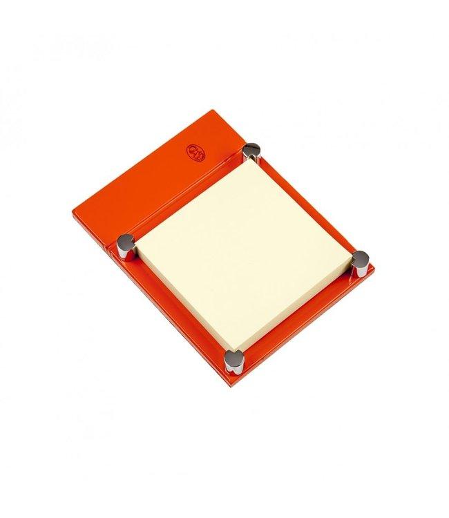 El Casco Adhesive note holder Chroom/Oranje