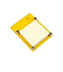 El Casco Adhesive note holder Chroom/Yellow