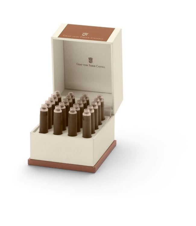 Graf von Faber Castell Ink cartridges Cognac Brown (x20)