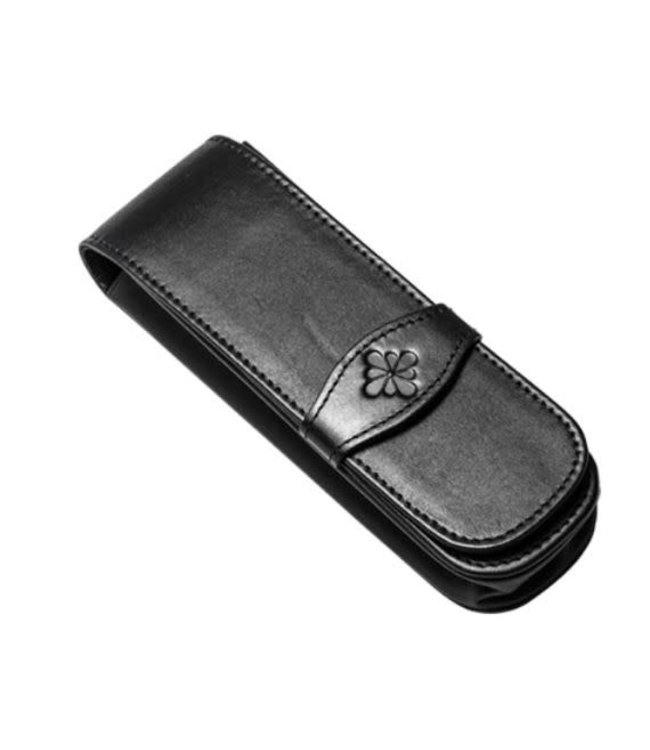 Diplomat DIPLOMAT leather double pen case black