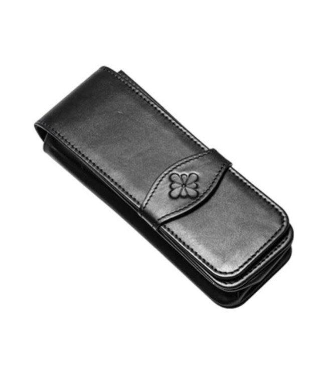 Diplomat DIPLOMAT leather triple pen case black