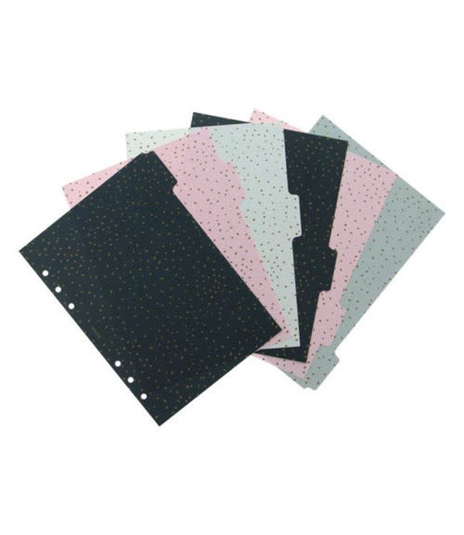 Filofax A5 Organiser Dividers Confetti