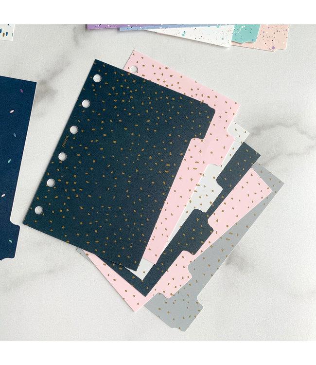 Filofax Personal Organiser dividers Confetti
