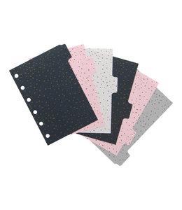 Filofax Pocket Organser dividers Confetti