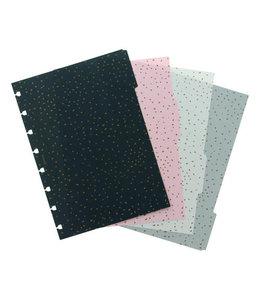 Filofax A5 Notebook dividers Confetti
