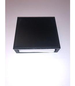 Memoblok houder Smooth glad leder 11.5x11.5xH3.5cm