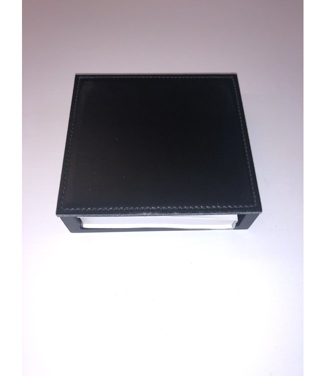 Pinetti Memoblok houder Smooth glad leder 11.5x11.5xH3.5cm