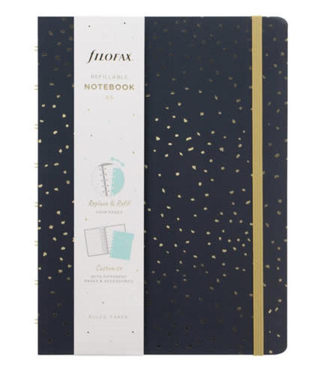 Filofax A5 Notebook Confetti Charcoal