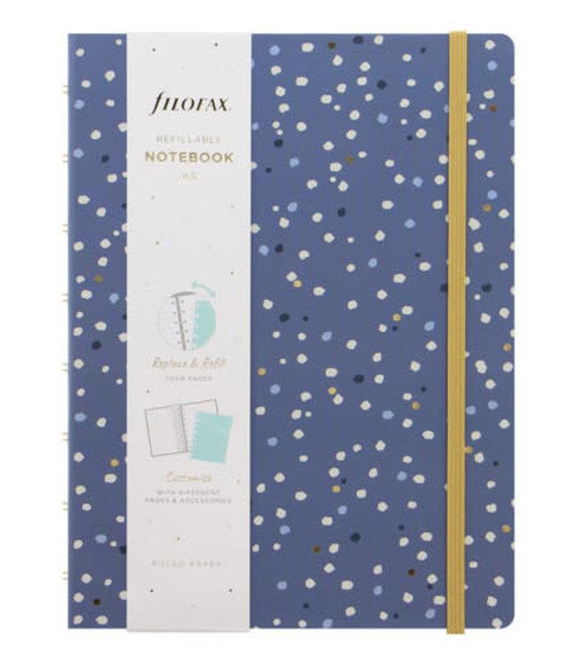 Filofax A5 Notebook Indigo Snow