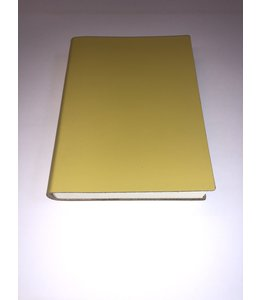 notebook 12x16.5cm  Smooth Leather Yellow