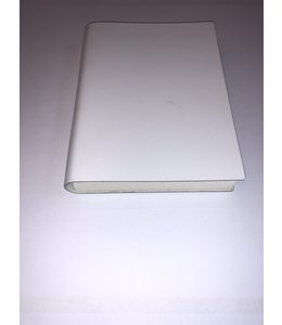 notebook 12x16.5cm  Smooth leather White