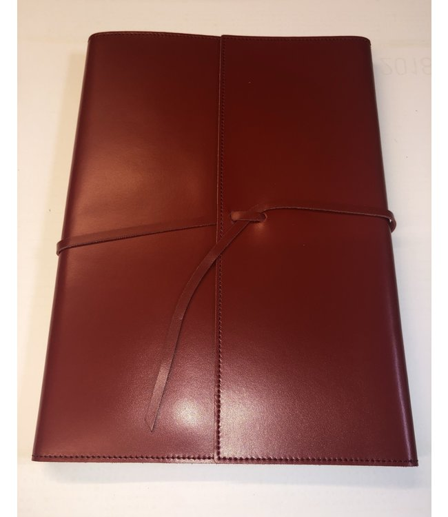 Pinetti notebook lint navulbaar Smooth Leather Red
