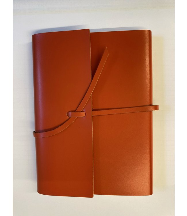 Pinetti notebook A5 lint Smooth leather Orange
