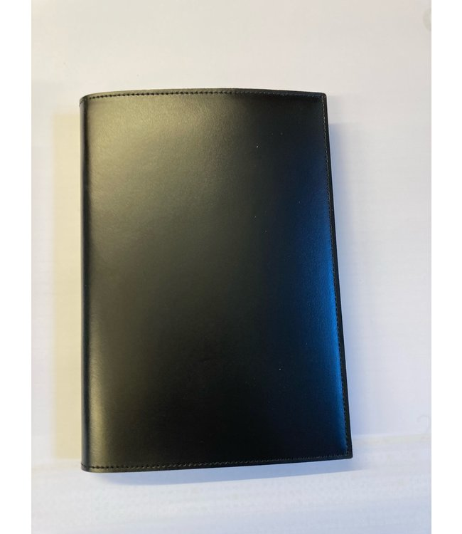 Pinetti notebook A5 navulbaar Smooth leather Black