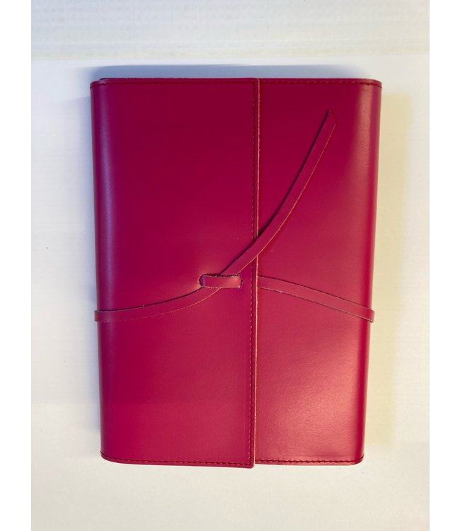 Pinetti notebook A5 lint Smooth leather Fushia