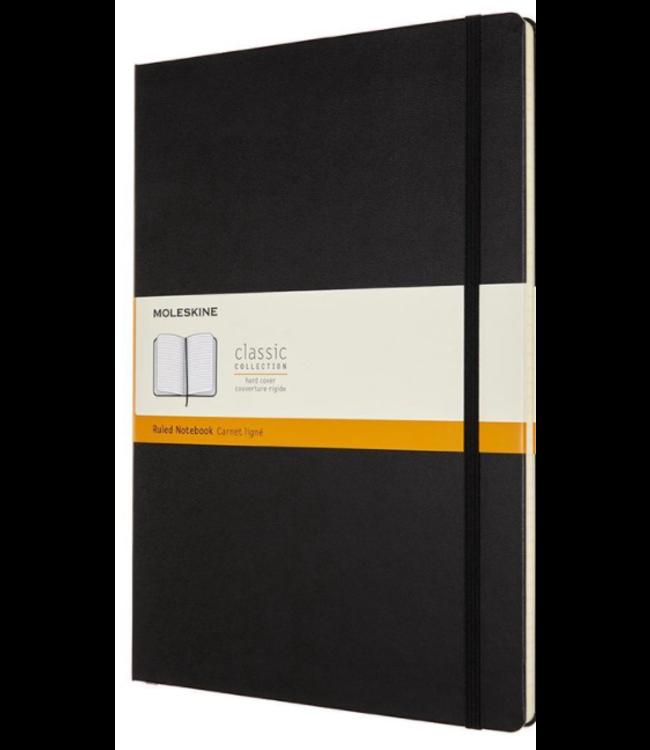 MOLESKINE Moleskine notebook zwart hard cover gelijnd A4