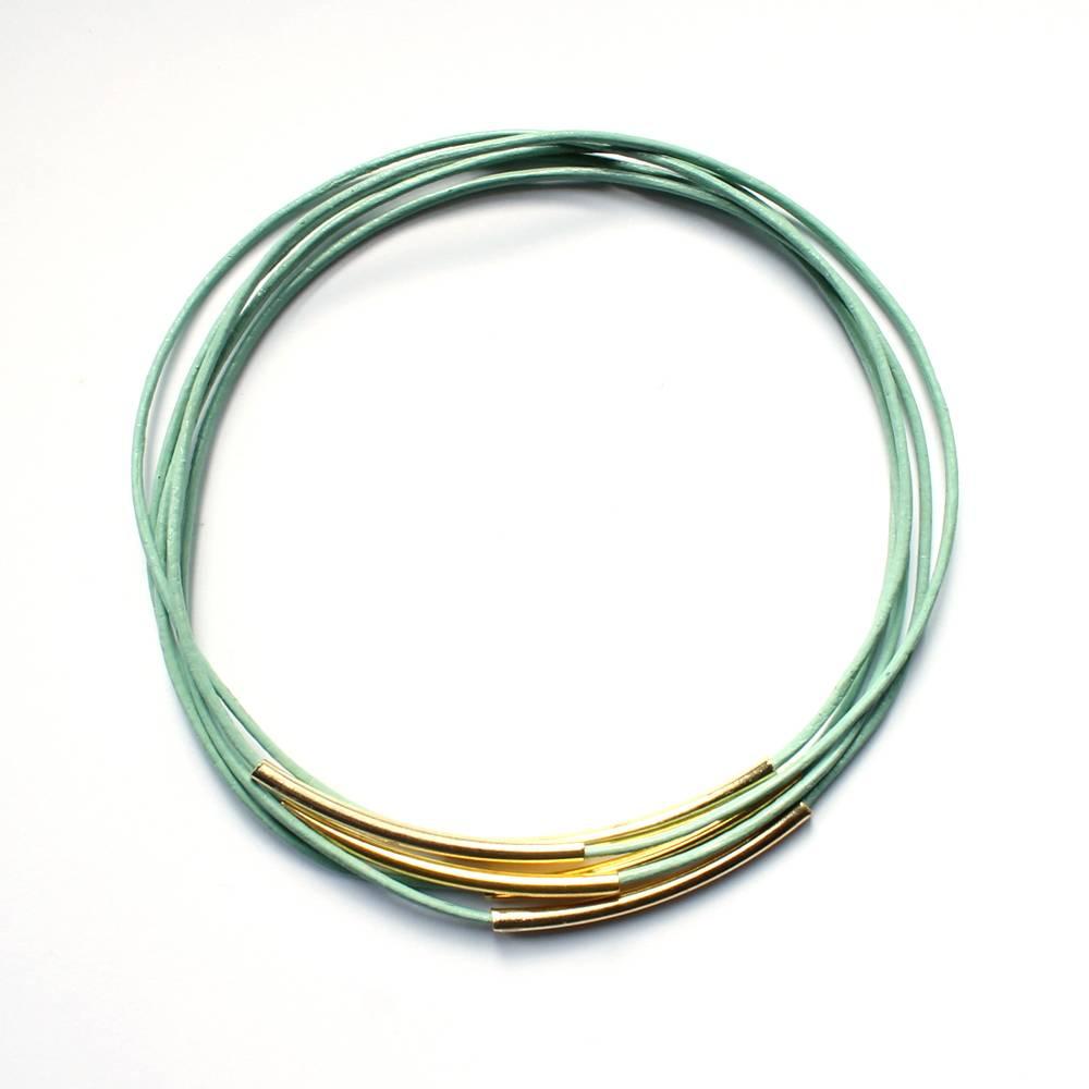 afgestoft armband juul - mint