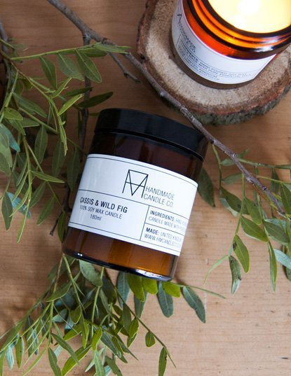 handmade candle co. candle Cassis & Wild Fig